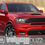 Photograph of red 2018 Dodge Durango SRT