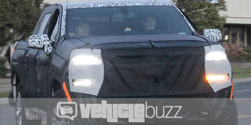 spy photo of covered 2018 chevrolet silverado