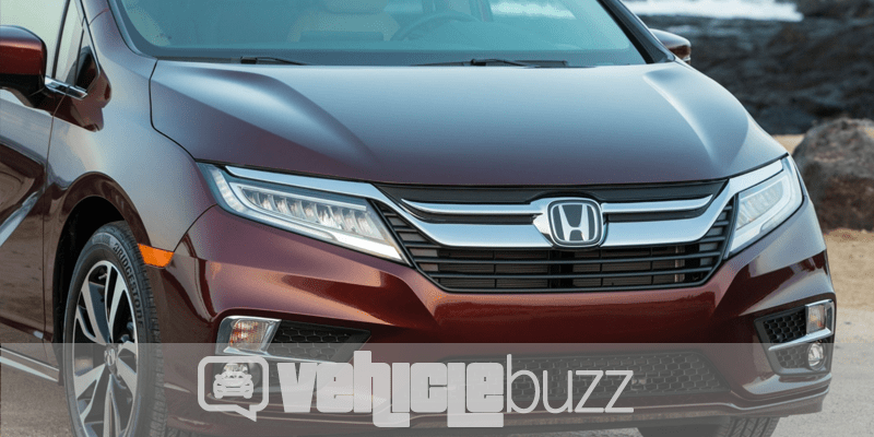 front end image of maroon 2018 Honda Odyssey