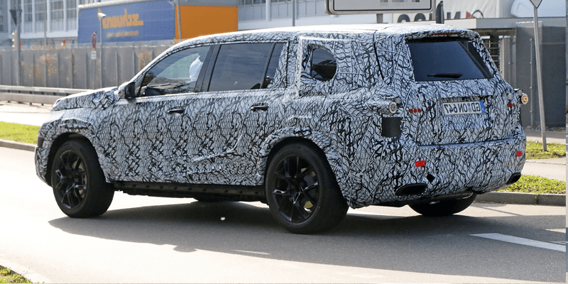 spy photo of the 2019 Mercedes Benz GLS