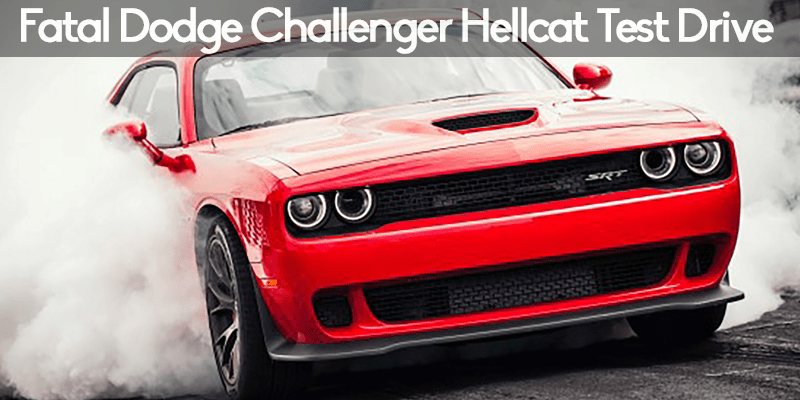 image of dodge challenger with smoking tires