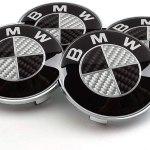 Black Carbon Fibre Wheel Center Caps Hubcap 68mm Set Of 4 Pcs M009 Vehicle Parts Shop