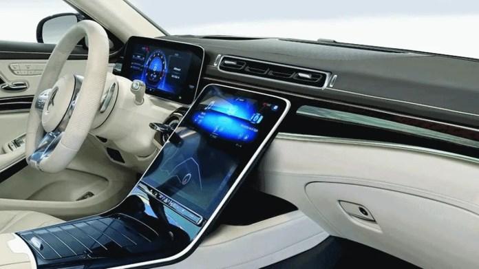 2021 Mercedes Benz S Class Gets Massive Touch Screen Like Tesla Model S Vehiclesuggest