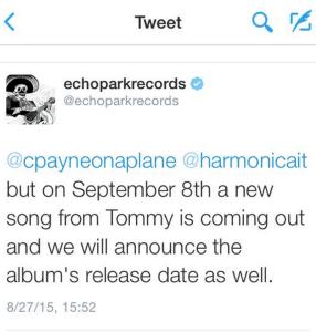 Screenshot of a tweet with Chromatics news.