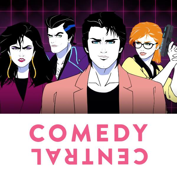 Moonbeam City, premiering Sept. 16 on Comedy Central, features the 80s-inspired retrosynth of the duo Night Club. Photo Credit: Comedy Central.