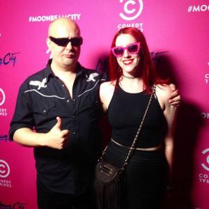 Mark Brooks and Emily Kavanaugh at the Moonbeam City party. Photo Credit: Night Club.