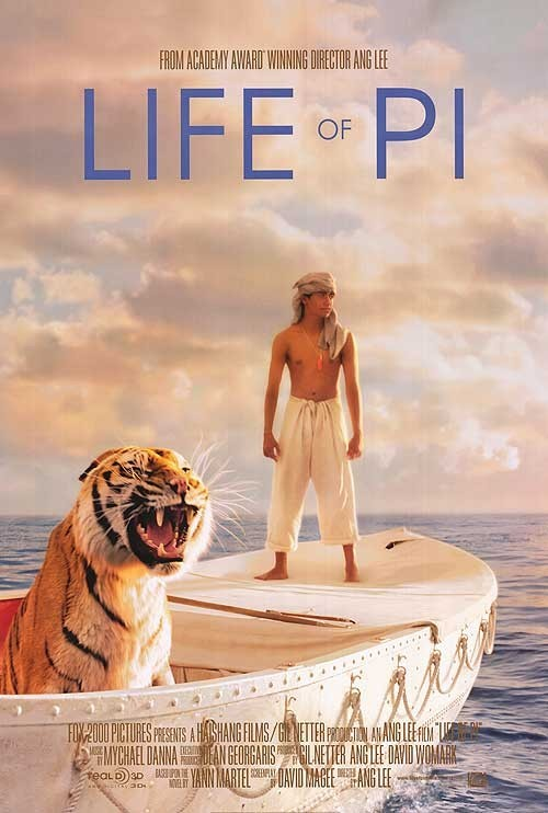 'Life of Pi' promo poster. Photo taken from IMDB.