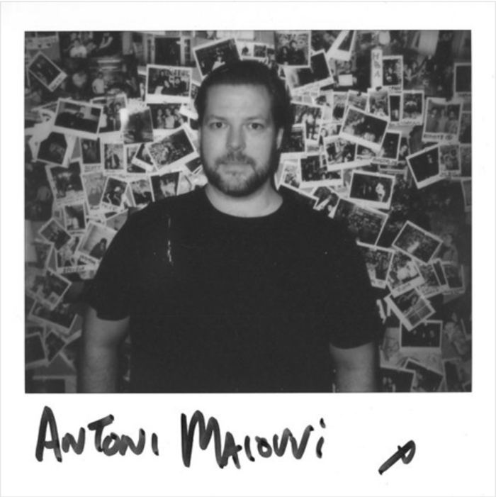 Anton Maiof posing for Tim Sweeney's classic 'Beats in Space' polaroids. Photo Credit: Tim Sweeney.