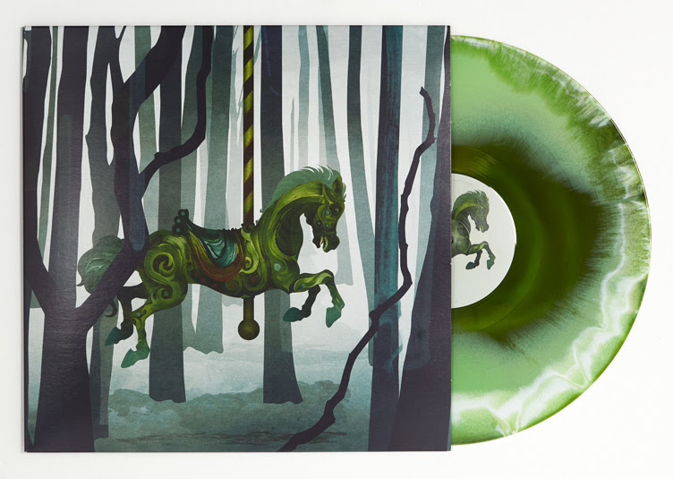 The art and medium for Alone in the Woods's self-titled debut is befitting the stunning quality of the music. Art by Darren Hopes.