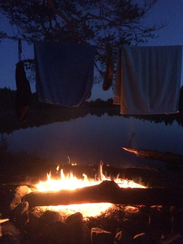 Litt tørking av håndkle og badebukse kommer godt med