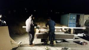 bygging av herberget