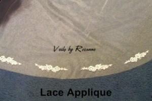 Lace applique embellishment