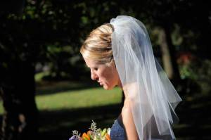 Shoulder length wedding veils