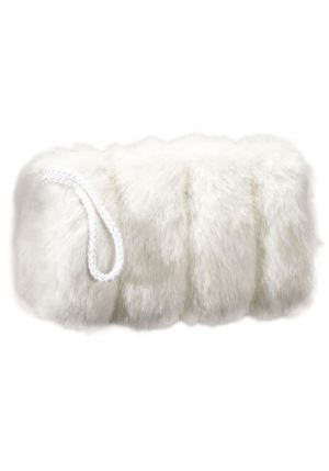 white muff front view