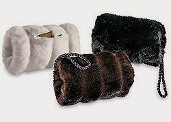 Faux fur muffs Fabulous Furs