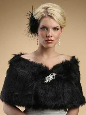 Black shawl Mariell 116W