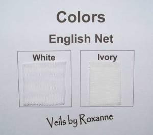 white English net veils or ivory English net veils