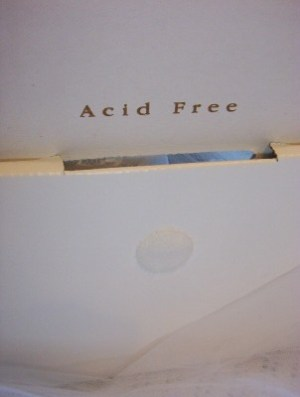 acid free wedding dress box