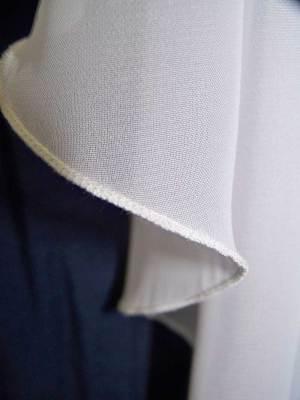 chiffon veil with pencil edge