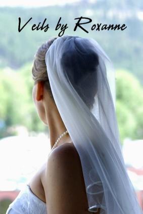 Shoulder length chiffon veil