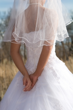 elbow veil or waist length veil
