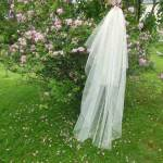 What is a 2 Tier Medium Length Waterfall Veil Like?
