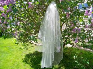 2 tier veil with crystals