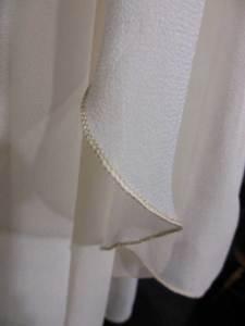 Chiffon champagne veil