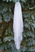 Waterfall wedding veil