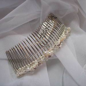 Metal wedding comb
