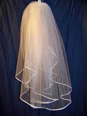 ribbon edge waterfall veil