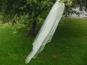 waterfall ribbon edge veil