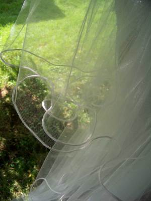 cord edge illusion veil