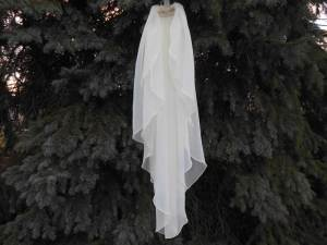 waterfall chiffon veil with 2 tiers