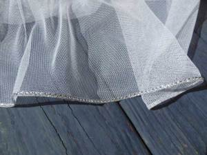 English net rhinestone veil