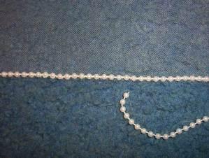 pearl edge bridal veil