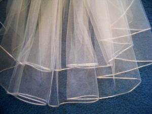 rhinestone trim edge veil on illusion veil