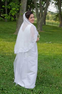 lace edge silk mantilla