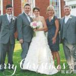 Christmas Card with Photos of a Wedding Dress Alterations Customer!