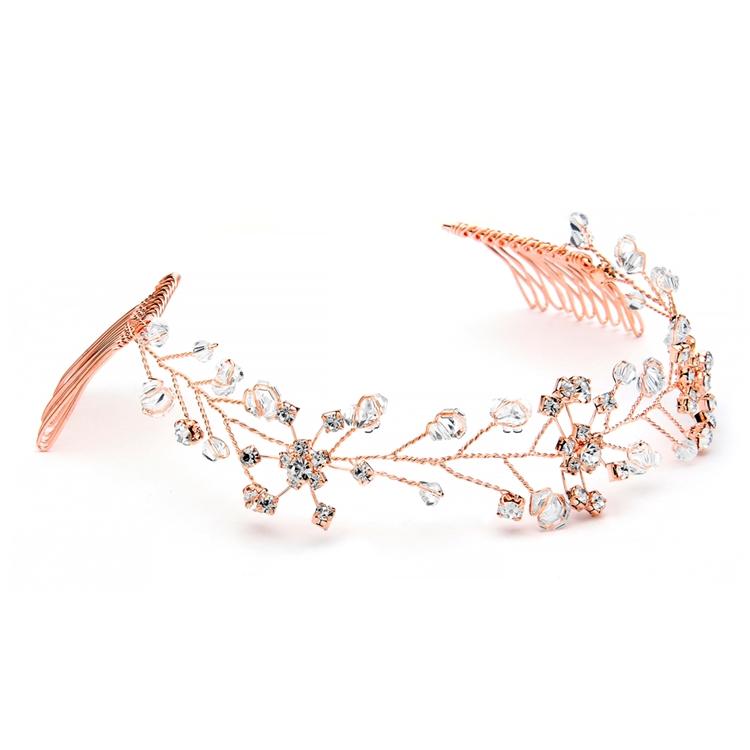 Bridal hair vine silver Bridal hair vine rose gold Bridal hair accessories gold Wedding hair vine rose gold Wedding hair vine crystal