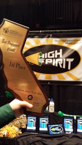 High Spirit, a retailer of school spirit goods, won 1st Place for Most Professional Booth