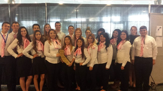 iScream, an ice cream retailer and catering firm from Dos Palos High School, earned the Most Creative Booth award