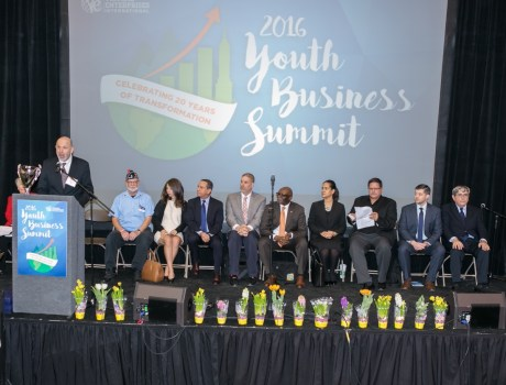 Virtual Enterprises International's International Trade Show during the 2016 Youth Business Summit.