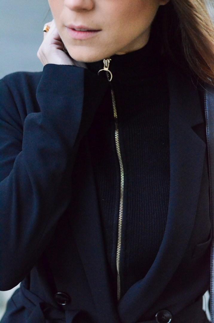 zipper pullover blazer outfit details