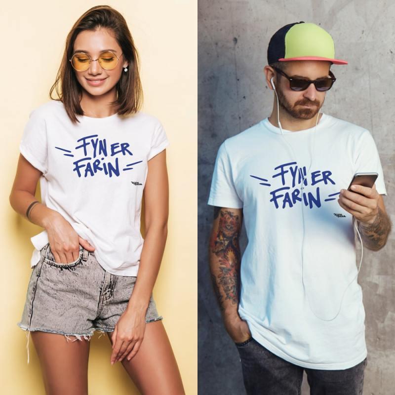 Unisex Fyn Er Farin t-shirt fra Vejsideboden