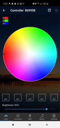 Magic Home App Nexlux LED Lights Color Wheel Review