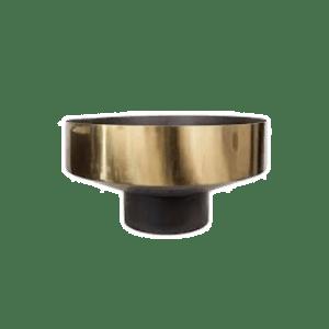 Bowl Vase Iron Dome Deco