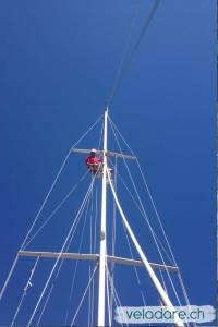 Rollreff Anlage am Mast fixieren