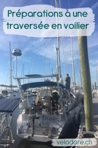 Préparations pour une traversée en voilier