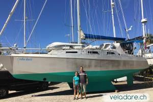 Nach den Wartungsarbeiten an unserem Boot